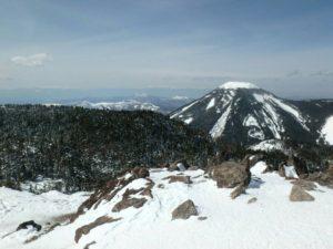 蓼科山頂も真っ白