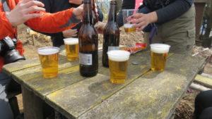 景信山で乾杯