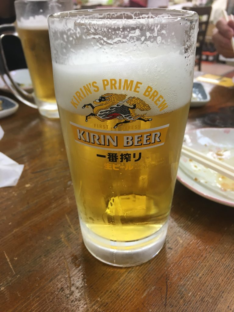 ビールで終戦
