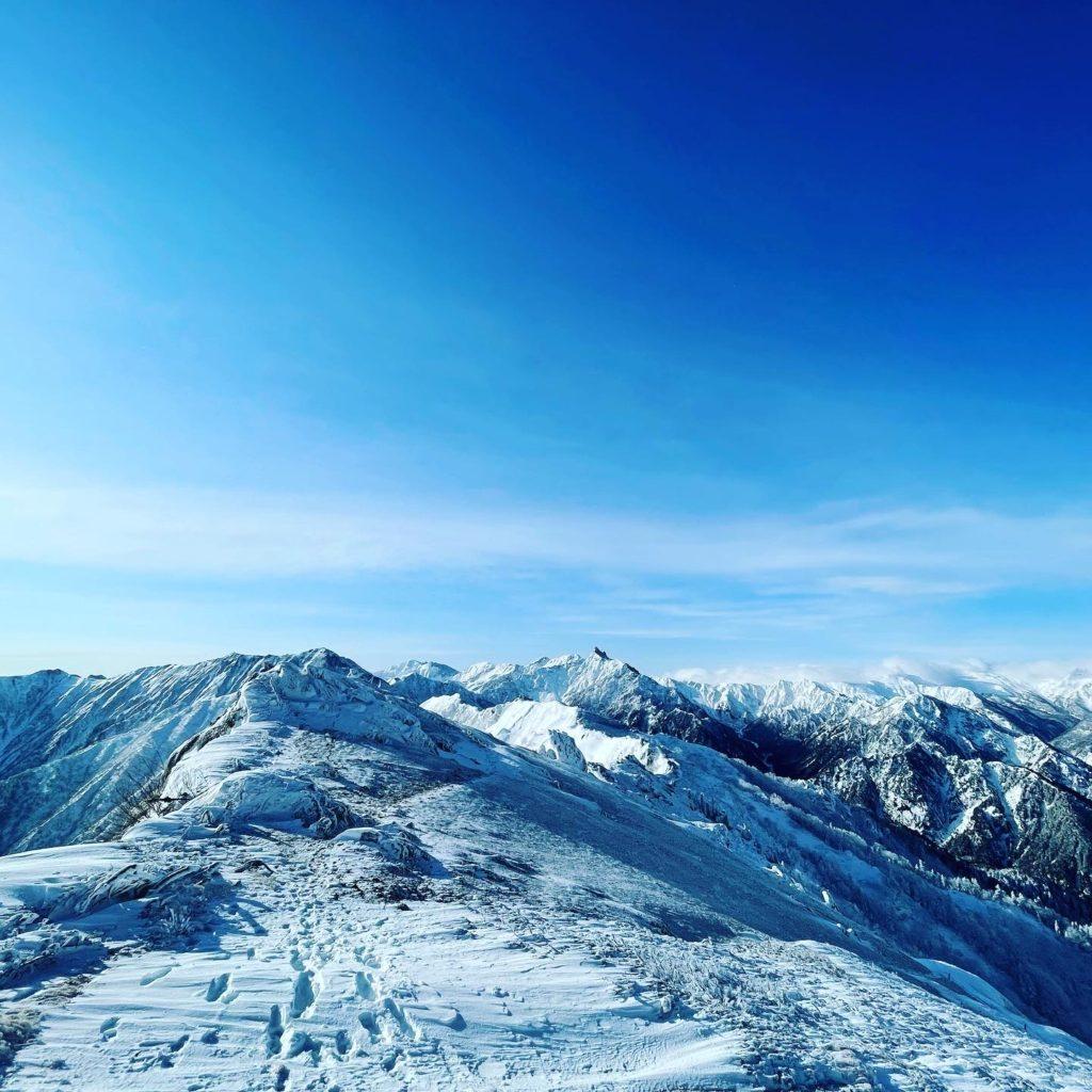 雪の燕岳 はじまりの山